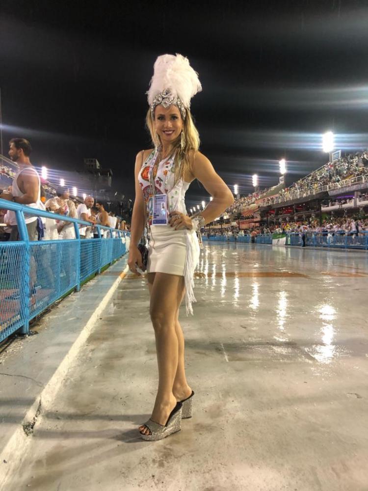 Cedida - Este ano Vanessa Martos esteve na comissão executiva do Carnaval do Rio de Janeiro na Sapucaí