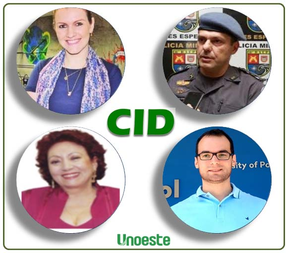 Próximos palestrantes do CID Talks (sentido horário): Janaina Vicari Peroto, Cel. Vitor Negri, Diego Andreasi e Alba Lucena Gandia