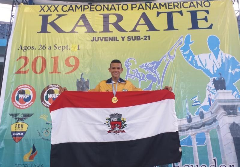 Cedida/Alexandre Serra - Guilherme Soares de Oliveira, atual campeão Pan-Americano da categoria sub 14 m, menos 55 kg