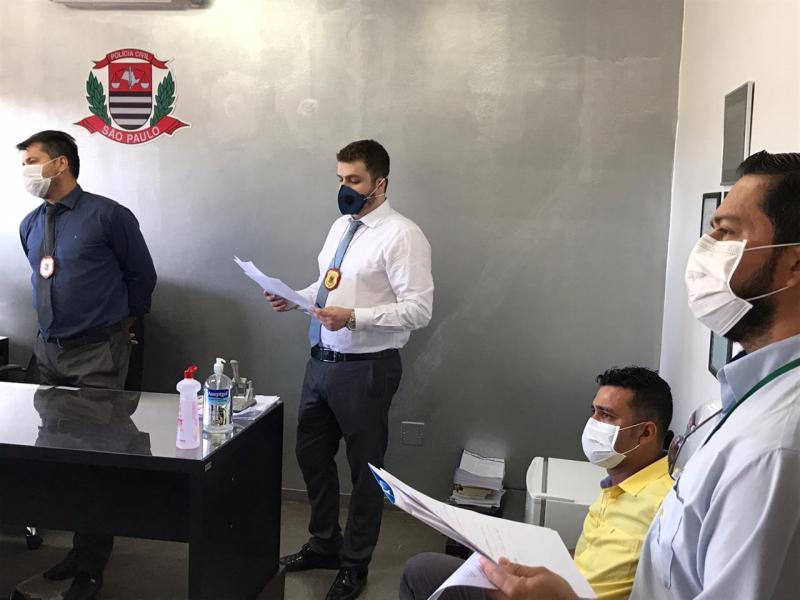 AI da Prefeitura - Encontro entre representantes ocorreu na Delegacia de Polícia Civil