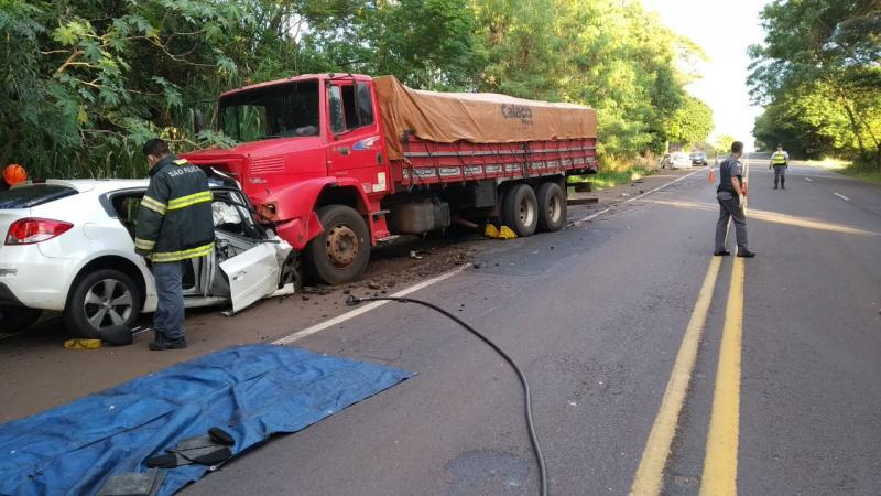 Polícia Militar Rodoviária - Acidente ocorreu no começo da manhã de hoje