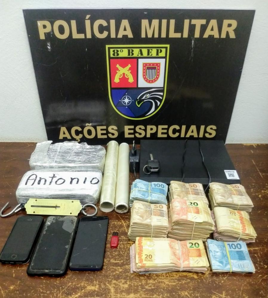 Polícia Militar - Quantia em dinheiro foi apreendida em duas residências