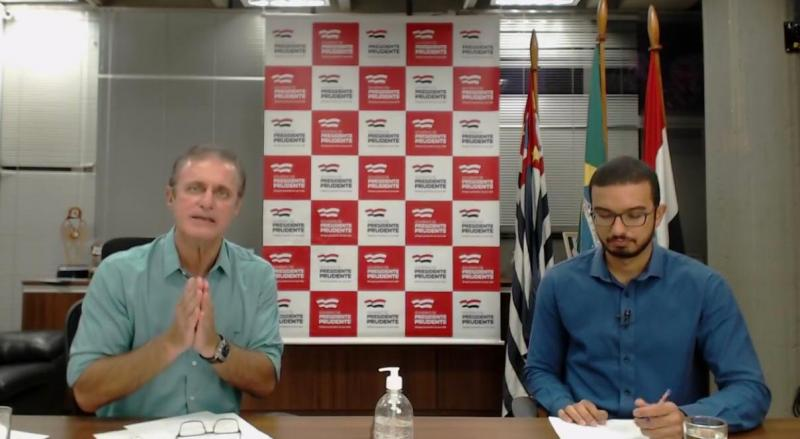Reprodução - Boletim sobre mortes suspeitas pela doença foi informado durante live do prefeito