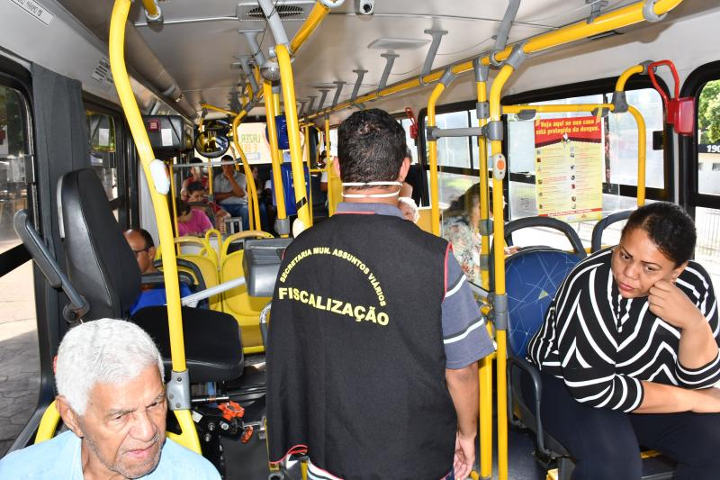 Prefeitura de Prudente - Fiscais verificaram em quais linhas e horários tem havido lotação nos ônibus