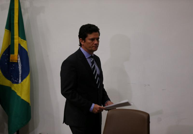 Pedro Ladeira/Folhapress - Moro deixa o governo de Jair Bolsonaro após a exoneração do diretor-geral da Polícia Federal, Maurício Valeixo, ter sido publicada nesta madrugada no Diário Oficial da União