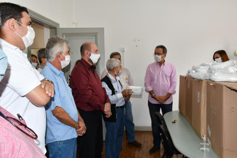 Marcos Sanches/Secom - Doação contempla profissionais de saúde do município em meio à pandemia do novo coronavírus