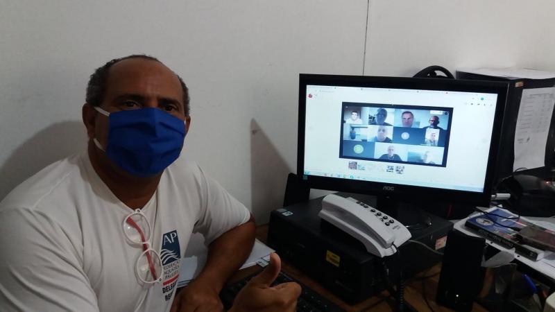 Marcos Chicalé:Pépe em videoconferência com representantes da FAP