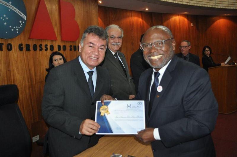 Arquivo pessoal - Posse de Chocô como membro do Conselho Regional de Educação Física