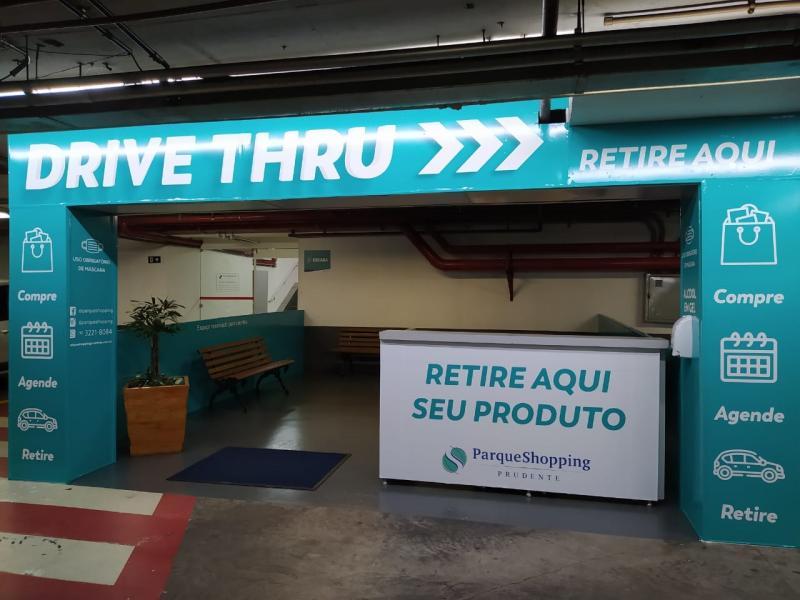 Cedida:Espaço Drive Thru está localizado no estacionamento do subsolo do Parque Shopping