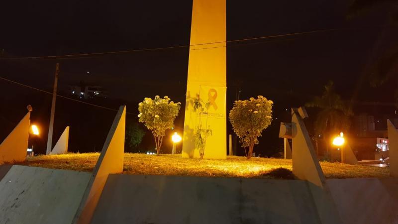 Cedida - Monumento de Prudente faz alusão com as cores da campanha