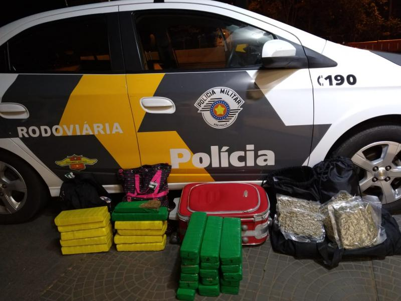 Polícia Militar Rodoviária - Os três detidos estavam viajando no mesmo ônibus