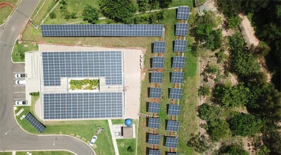 Divulgação/Sabesp - Estação em Mogi Mirim foi a primeira a adotar a produção de energia solar