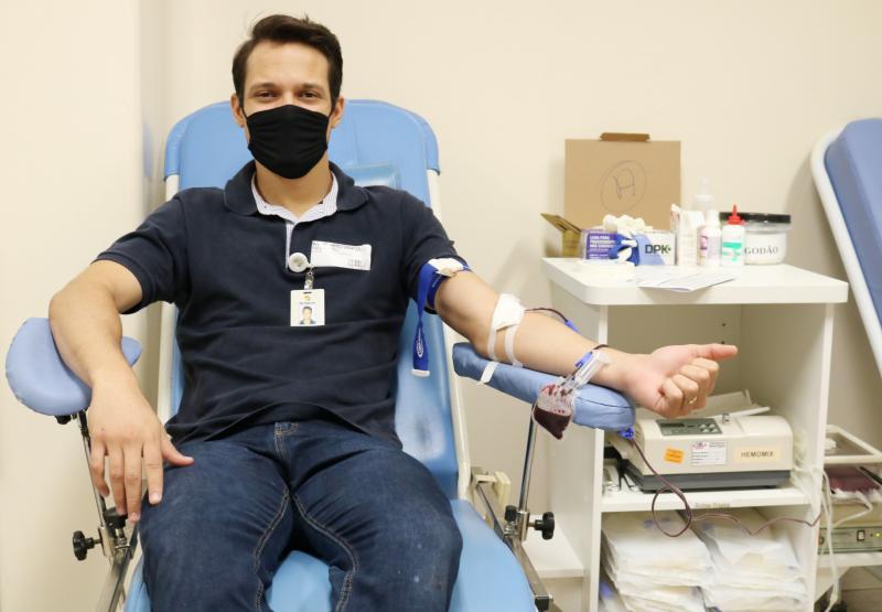 AI HR - Primeiro colaborador a participar da ação foi Taygor Pradella, consultor de negócios da RL Higiene