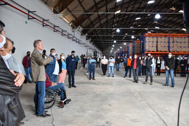 Secom - Bugalho apresenta as instalações do novo almoxarifado de Prudente