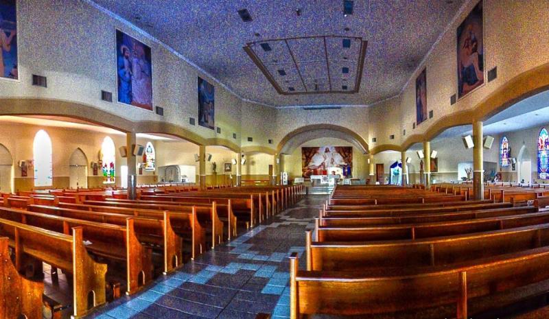 Divulgação / Paulo Takarada - Por enquanto, paróquias de Pirapozinho permanecem vazias, sem celebrações presenciais