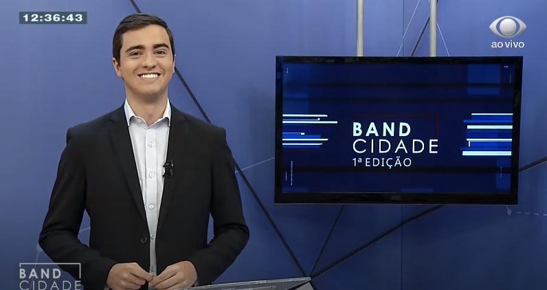 """Anderson Camargo apresenta o """"Band Cidade 1ª edição"""" (a partir do dia 18 será substituído por Luci Castro)"""