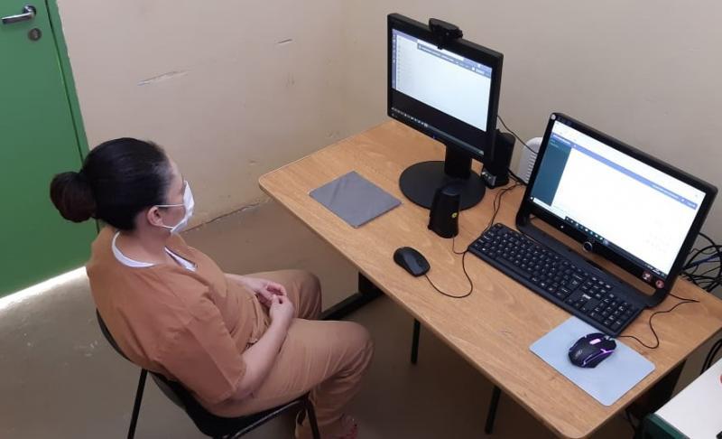 Croeste - Modalidade  evita o deslocamento de detentos e interrupção de trâmites
