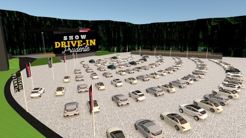 Cedida - Croqui de como o estacionamento do IBC deve ficar para realização do Show Drive-In Prudente