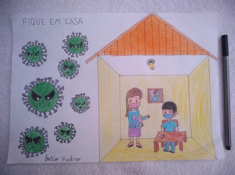 Cedida: 1º lugar: João Pedro Nabor Matos, 7 anos, da EM Escola Municipal Professor Ivo Garrido