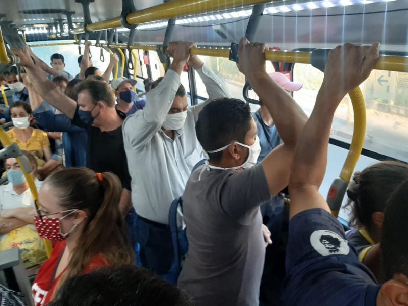 Cedida/Câmara Municipal de Presidente Prudente - Fiscalização constatou aglomeração em linha de ônibus da empresa na terça-feira