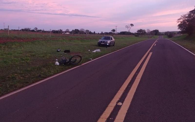 Polícia Militar Rodoviária - Batida ocorreu no km 2, da SPA-634