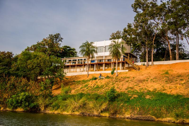 Cristiano Rapchan: Casa principal, com vista para o Grande Lago do Rio Paraná