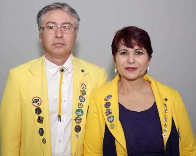 Alexandrina Isabel e o marido Oidelar Silva, à frente do Lions Clube de Presidente Prudente