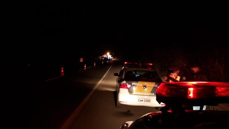 Polícia Militar Rodoviária - Acidente ocorreu nas proximidades do km 590+900 metros