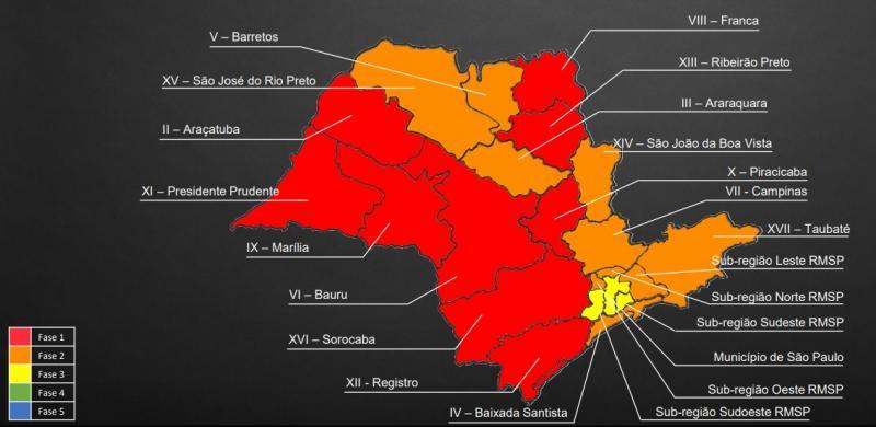 Divulgação - Governador João Doria atualizou o Plano São Paulo em coletiva de imprensa realizada hoje