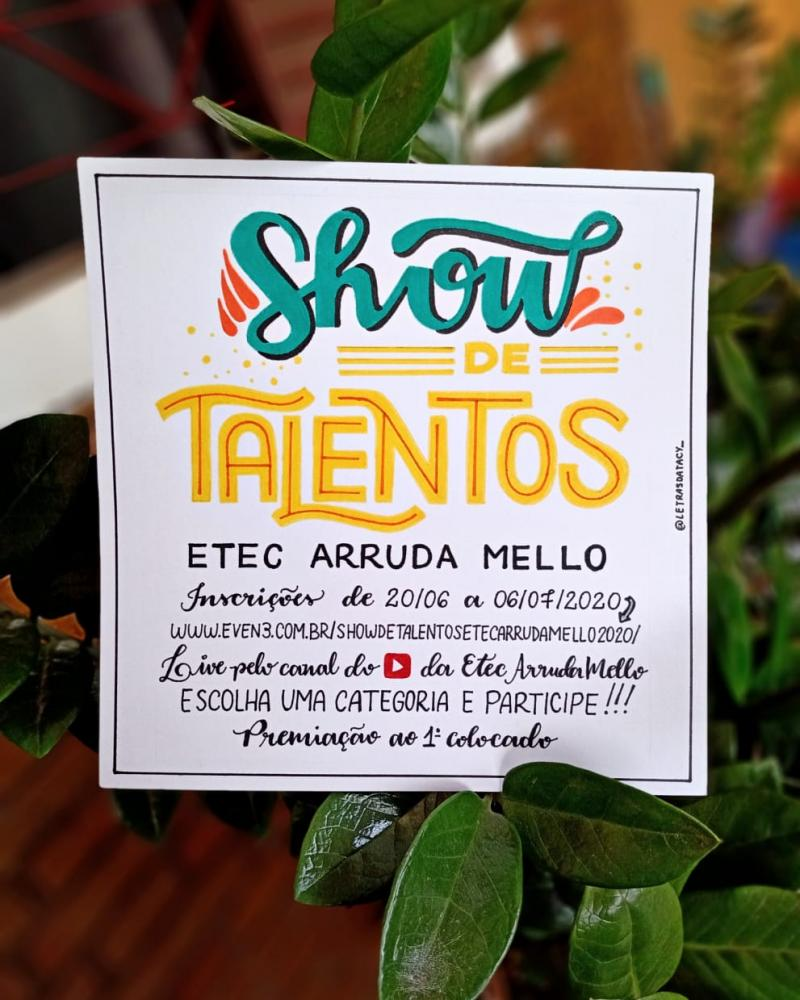 Reprodução / Taciany Ingrid da Silva - Show de Talentos é direcionado aos alunos da Etec