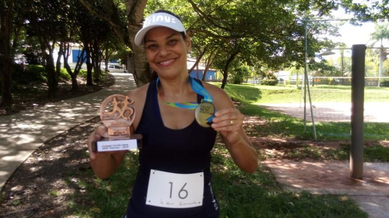 Arquivo Pessoal - Preta carrega outros troféus e medalhas por participações no esportes