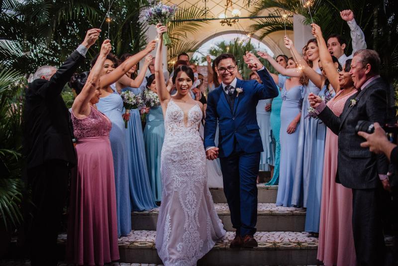 Carlos Rocha - Antes da pandemia, Ana Carine e Marcelo Veimar, ambos médicos, se casaram em 22 de fevereiro, na chácara Bob Roque.