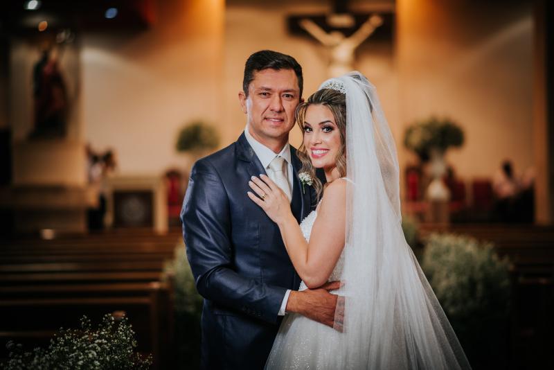Carlos Rocha - Vivian Vieira e Cristiano Ferreira Barboza casaram-se dia 7 de março, na Igreja São Judas Tadeu, em Presidente Prudente