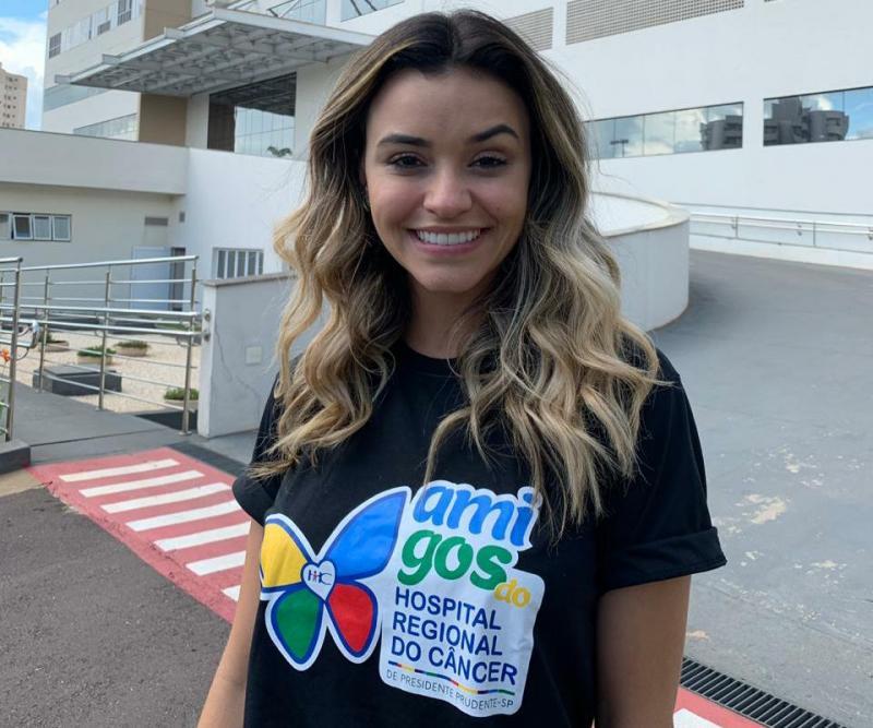 Talita é embaixadora do Hospital Regional do Câncer