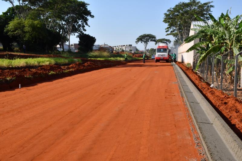 Marcos Sanches/Secom - Terraplanagem está bem adiantada e em fase de finalização, informa Prefeitura