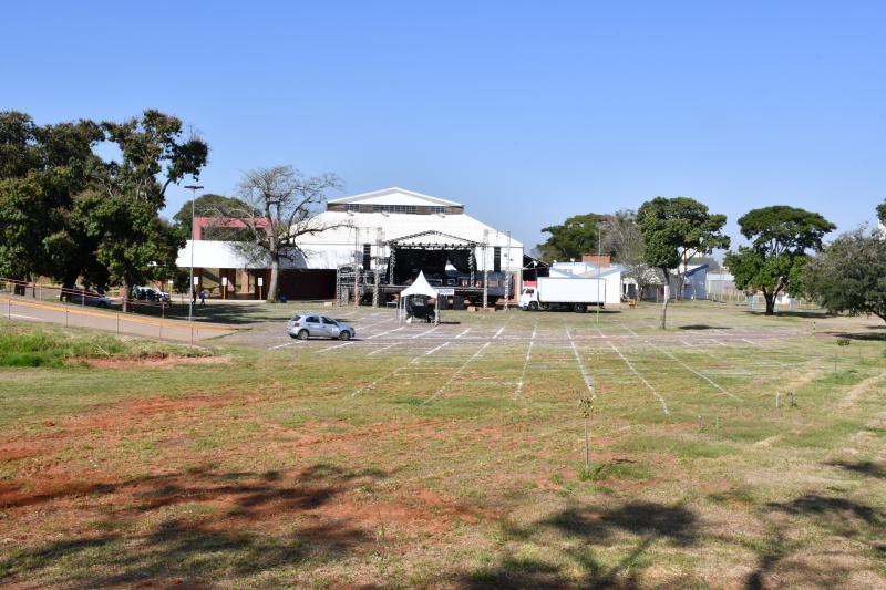 Arquivo/Marcos Sanches - Evento será realizado na estrutura drive-in montada no estacionamento do IBC