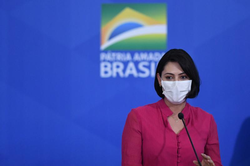 Edu Andrade/Fatopress/Folhapress - Michelle testou positivo para o novo coronavírus