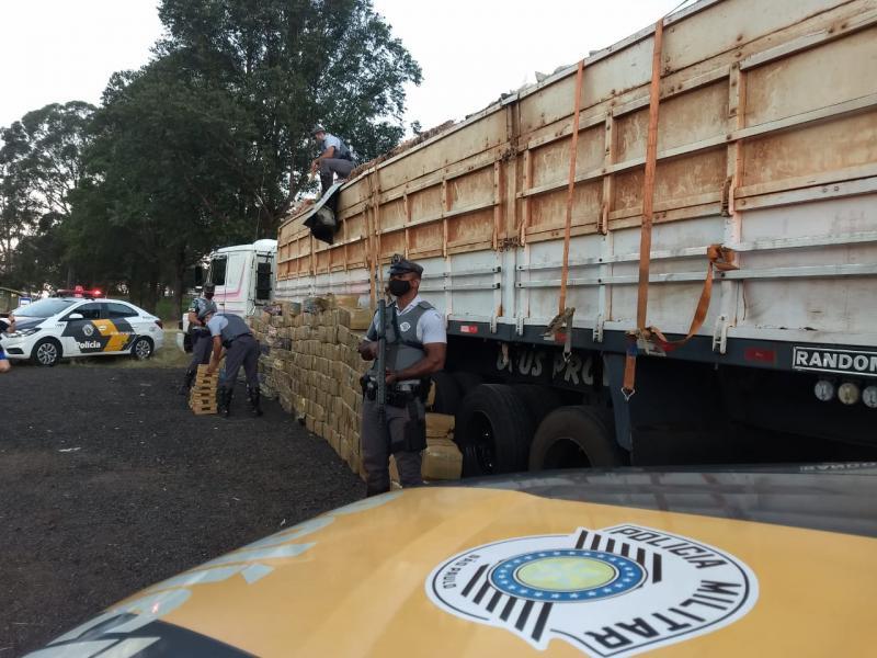 Polícia Militar Rodoviária - Carga seria entregue em município de São Paulo