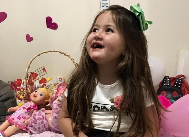 Cedida - Isabela esteve internada no Hospital Regional de Prudente