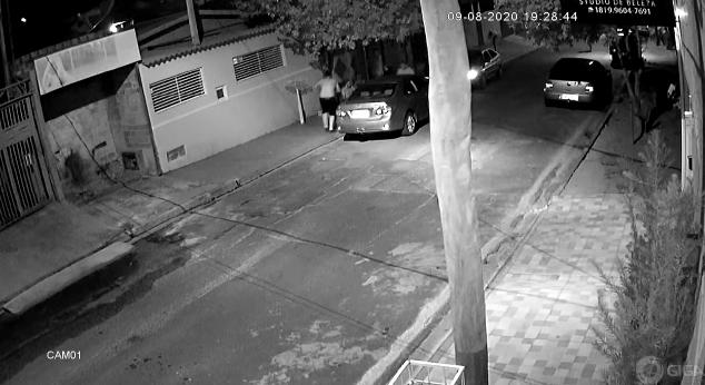 Cedida/Polícia Civil - Imagens de monitoramento gravaram a ação