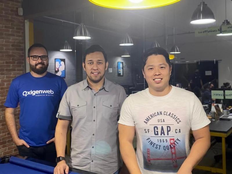 Cedida - Da esquerda para a direita: João Lucas, Diego Faquinha e Maurício Shinmi