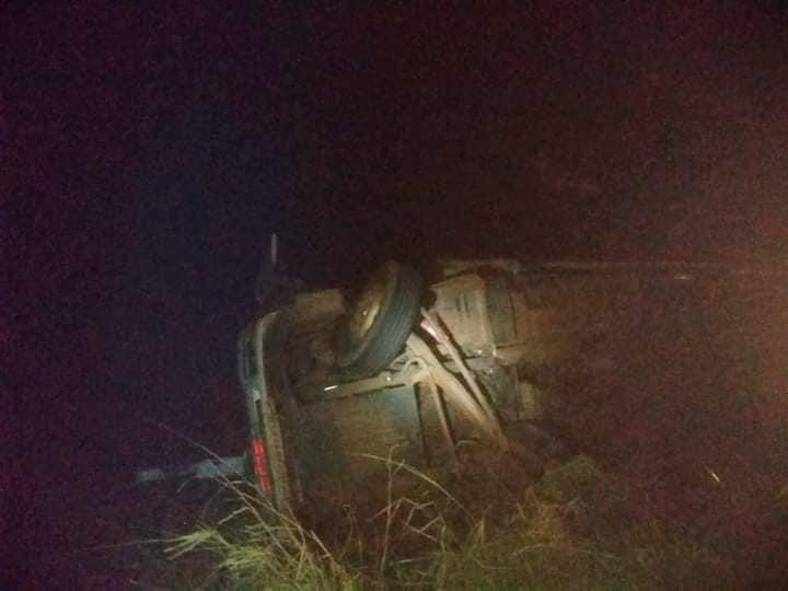 Reprodução/TV Oeste Diário - Houve vazamento de óleo após o acidente