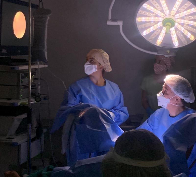 Cedida - Videohiesteroscopia endometrial, realizada pela primeira vez no centro cirúrgico do hospital-dia da Fert-Embryo