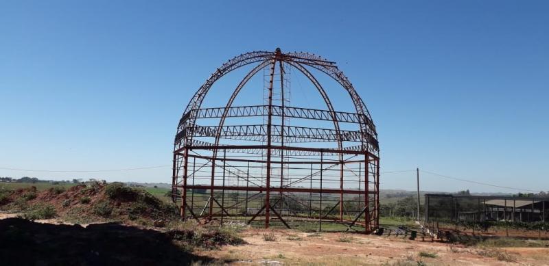 Cedida: Armação da cúpula