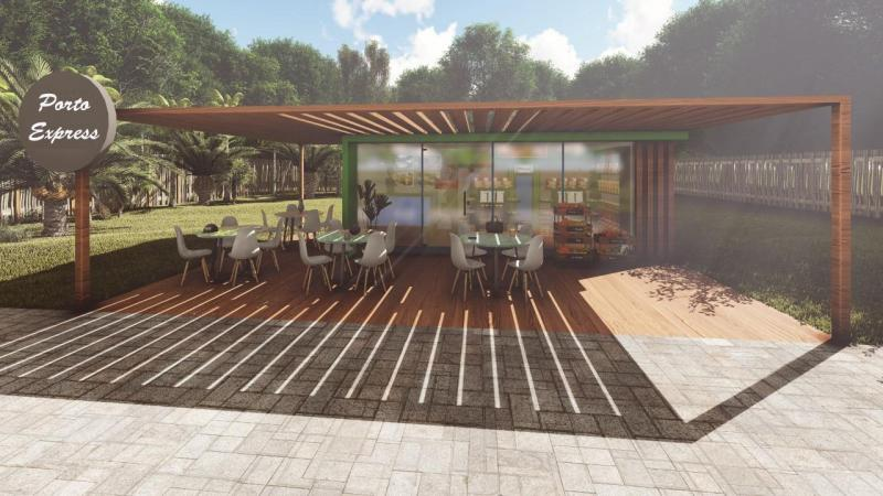 Projeto da loja autônoma que será instalada no Condomínio Residencial Porto Seguro