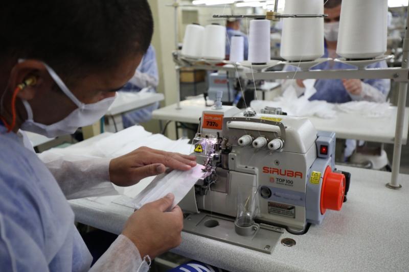 Ana Paula Igual/Funap - Inicialmente, a linha de produção era focada nos modelos descartáveis