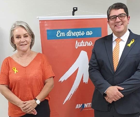 Cedida -Partido confirmou nomes de Marcos Lucas como candidato a prefeito e de Myriam como vice