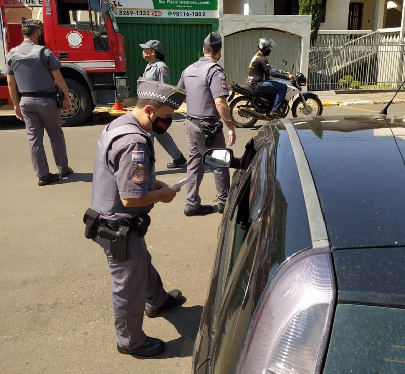 Polícia Militar - Interação ocorreu hoje pela manhã, na Praça Manoel Marques