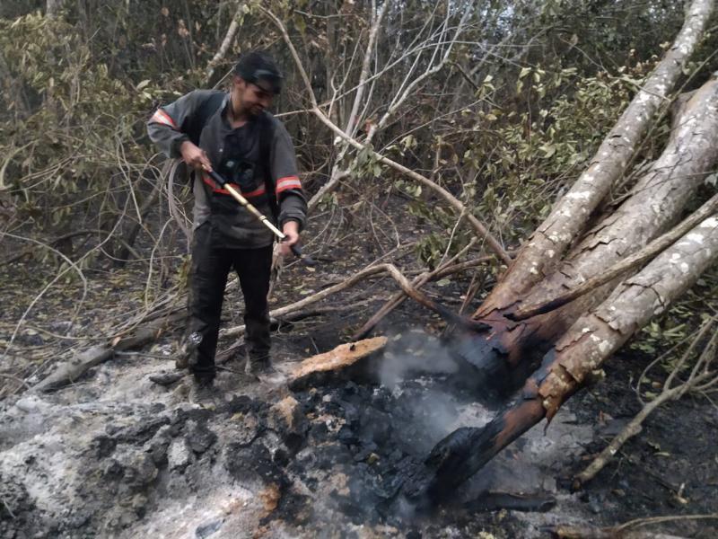 Cedida - Equipamento utilizado nas queimadas comporta 20 litros de água