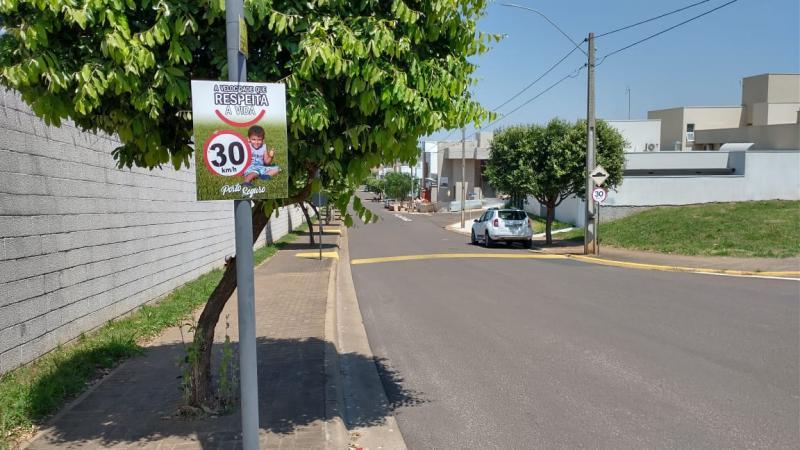 Cedida - Campanha do condomínio Porto Seguro conscientiza sobre limite da velocidade